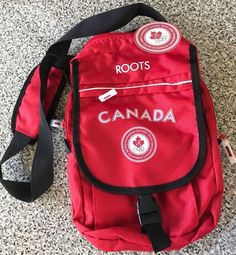 2004 Canadian Olympic Team ROOTS Red Messenger Bag Carry All New NWT Tags #Roots #Canada