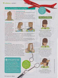 How to cut girls' hair