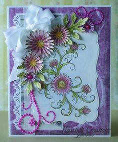 Heartfelt Creations | Purple Delicate Twining Asters