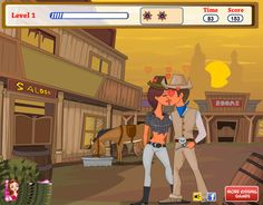Kissing Been Outlawed - Kiss Games - Kissing Games, Wild Love, Western World, First Kiss, Games For Girls, Wild West, Family Guy, Gun, Happiness