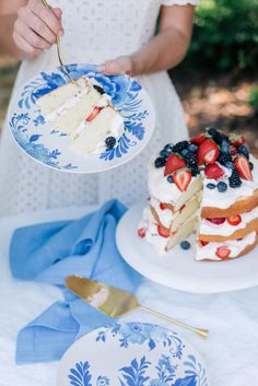 Gal Meets Glam Contributor Series: Three Desserts for the Fourth of July - Layered Pound Cake with Whipped Cream & Berries