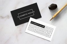 Modern Business Card Template by Refinery Resume Co. on @creativemarket