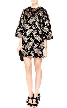 ROCHAS Floral-Devore Mini Shift Dress