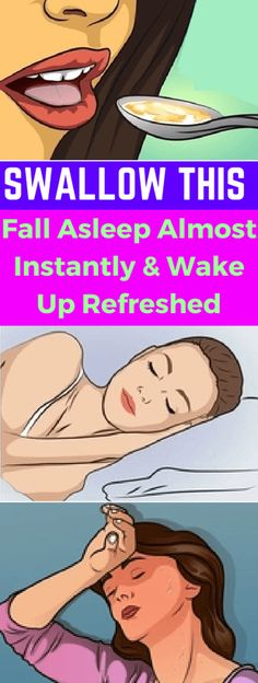 Swallow THIS – Fall Asleep Almost Instantly and Wake Up Refreshed – healthycatcher