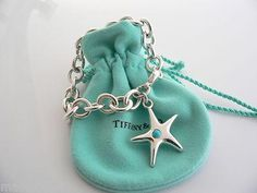 Turquoise | Tiffany & Co Silver Starfish Charm Bracelet