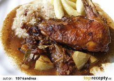 Slepice z plzeňské krčmy recept - TopRecepty.cz Pork, Beef, Treats, Chicken, Kale Stir Fry, Sweet Like Candy, Ox, Pork Chops, Sweets