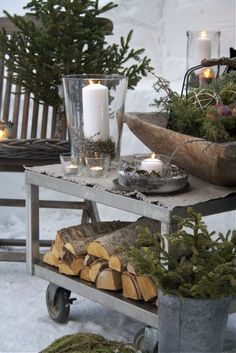 Winter Decorations – Winter Table Ideas & More! Winter Decorations – Winter Table Ideas & More! Christmas Porch, After Christmas, Noel Christmas, Outdoor Christmas Decorations, Country Christmas, All Things Christmas, White Christmas, Vintage Christmas, Winter Decorations