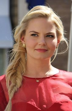 Jennifer Morrison's Messy Fishtail Braid