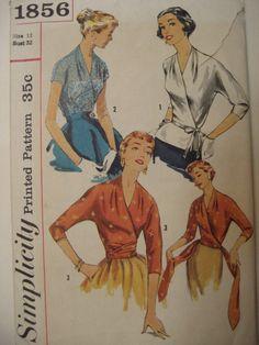 1950's Simplicity Kimono Wrap Blouse