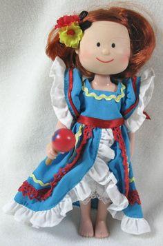 "Madeline 8"" Doll International Traveler Mexico Eden Toys #DollswithClothingAccessories"