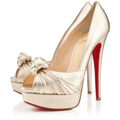 The 2013 Christian Louboutin Bridal Collection ❤ liked on Polyvore featuring shoes, christian louboutin, heels, louboutin, bride shoes, bridal shoes, christian louboutin shoes and bridal footwear