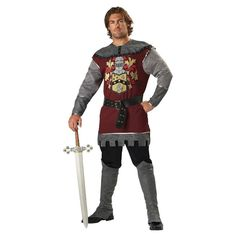 31 best book into battle images on pinterest book covers book mens noble knight adult costume x large size xl fandeluxe Images