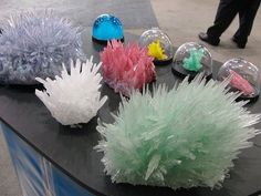 """Grow your own """"Kristal's Crystals"""".  Grow in 2 to 7 days and can be kept growing by adding solution.  NYC Toy Fair 2008 (non-toxic)."""