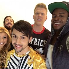 Shots from the filming of a new Pentatonix video…They look amazing!