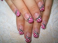 nail bling pictures | Pink Bling Nails - these are really cute, and very feminine, I think ...