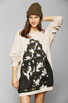 Pretty Snake Crazy Cat Sweater #urbanoutfitters