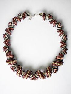 zig-zag cellini necklace by popopopo