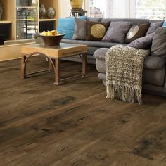 "Shaw Floors Impressions Plus Laminate Virginia Pine 8"" Enhanced with attached pad"