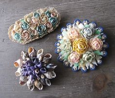 Fine Shell Art Blog - Shells, Shell Art & Other Coastal Delights: Vintage Seashell Brooches & Jewelry