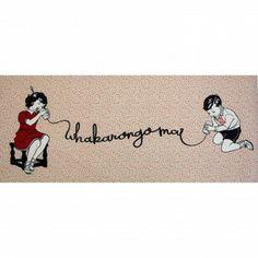 Shane Hansen, Whakarongo Mai Tahi, 6 limited edition screen prints on vintage laura ashley wallpaper Nz Art, Collagraph, Maori Art, Kiwiana, Letterpress, Printmaking, New Zealand, Screen Printing, Stencils