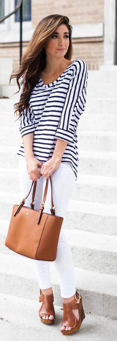 Spring Stripes Outfit Idea by The Darling Detail