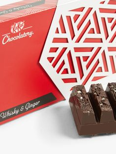 Buy KitKat Chocolatory Whisky & Ginger, 6 Finger Pack from our Gift Food & Alcohol range at John Lewis & Partners. Nestle Chocolate, Nut Allergies, Name Day, Creative Package, Cookies Policy, Alcohol Free, Food Gifts, Package Design, Whisky