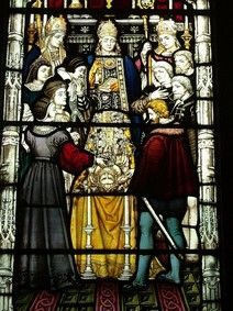The funeral of Mary Tudor: neither her husband (Charles Brandon) nor her brother (Henry VIII) were present...