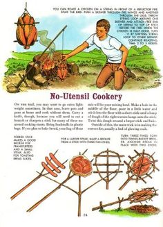 The Golden Book of Camping – camp cooking The Golden Book of Camping – camp cooking Related Survival Skills Everyone Had Less Than 100 Years Ago - Prepared SurvivalistHow to Treat a Bee. Survival Life Hacks, Survival Food, Camping Survival, Outdoor Survival, Survival Prepping, Survival Skills, Camping Gear, Camping Hacks, Outdoor Camping