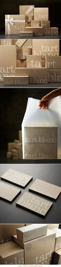 Tart Blanc, artisanal bakery in Singapor | Nice and fresh #food #packaging solution by Manic Design | Ivan Giorgetti > The Dieline