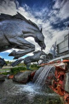 Who's ready for some Broncos football? Go Broncos! {Photo courtesy of Greg Thow Denver Digital Photography} My husband's aunt bought him the original scale artists model of the fountain, and it is pretty! Boise State Broncos, Go Broncos, Denver Broncos Football, Broncos Fans, Best Football Team, Broncos Logo, Giants Football, Cincinnati Bengals, Indianapolis Colts