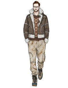 Fashion Illustration Tutorial, Fashion Illustration Collage, Boy Illustration, Illustrations, Fashion Design Drawings, Fashion Sketches, Style Masculin, Fashion Templates, Fashion Figures