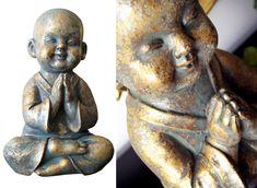ESTUDIO DELIER | Figura niño buda oro, tienda online budas Buddha Sculpture, Ganesha, Zen, Art Deco, Pottery, Floral, Plaster Crafts, Diy And Crafts, Statues