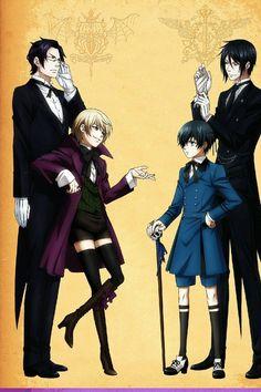 Kuroshitsuji- Alois Trancy, Claude Faustus, Ciel Phantomhive, and Sebastian Michealis! <3