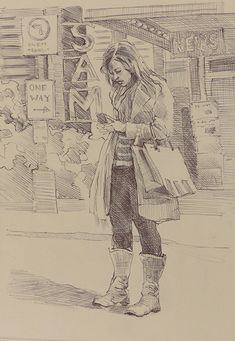 by Katya Minkina ~ x – People Drawing Music Drawings, Drawing Sketches, Pencil Drawings, My Drawings, Figure Sketching, Figure Drawing Reference, Urban Sketching, Sketches Of People, Drawing People