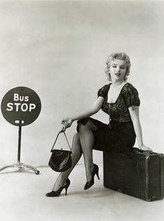 """Marilyn in a publicity photo for """"Bus Stop"""". Photo by Milton Greene, 1956."""