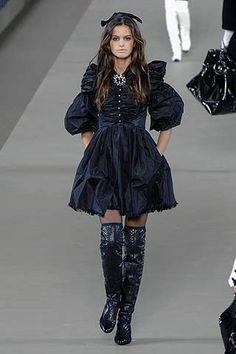 Chanel Inspired Dark Blue Dress