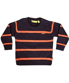 Buzzy Long Sleeves Pullover Sweater Stripes - Navy And Orange http://www.firstcry.com/buzzy/buzzy-long-sleeves-pullover-sweater-stripes-navy-and-orange/621046/product-detail