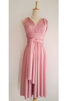 Wineberry Pink Mini Convertible Wrap Dress can be wore in more than 20 styles and fits many different body types easily. Ideal for bridesmaid dress and other formal occasions too.