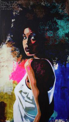 Artist Anette Tjærby Manege in 2020 Black Girl Art, Black Women Art, Black Art, Art Girl, Portrait Art, Portraits, Arte Tribal, Painting Of Girl, Africa Art