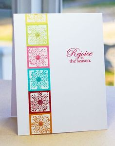 Rejoice in the season card by Lisa Johnson for Papertrey Ink (September 2011).