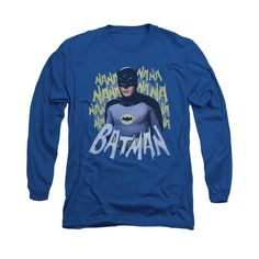 Batman Classic TV - Theme Song Adult Long Sleeve T-Shirt