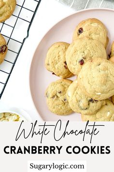 These White Chocolate Cranberry Cookies have everything you want in a cookie. They are delightfully sweet, soft, and slightly chewy.
