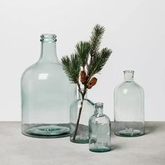 Large and extra large for left side of dresser- Large Clear Glass Vase - Hearth & Hand™ With Magnolia : Target