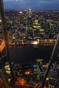 View from the Shard - The City at night, London