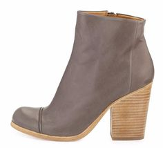 COCLICO SHOES CELIE ANKLE BOOTS GRAY LEATHER CAP TOE BOOTIES $435 9.5 #Coclico #AnkleBoots #Casual