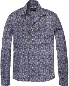 Gentleman Shirt With Allover Flower Print > Mens Clothing > Shirts at Scotch & Soda