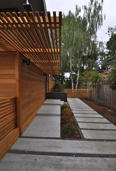 """Designed by Michelle Kaufmann Studio and Studio 101 Designs and it was built using modular construction by Blazer Industries. The home was set during a 2-day period from 2 modules and then finished (or """"buttoned up"""") after that."""