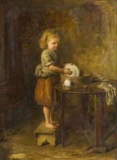 The Little Housewife ~ Hugh Cameron ~ (Scottish 1835-1918):