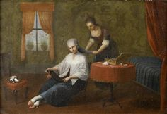 An interior with a lady at her toilet, The Master of the Reflessi (Italian), 18th Century,  | Bonhams