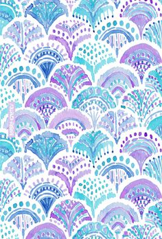 MERMAID DAYDREAMS Barbarian print #fishscales #mermaid #purple